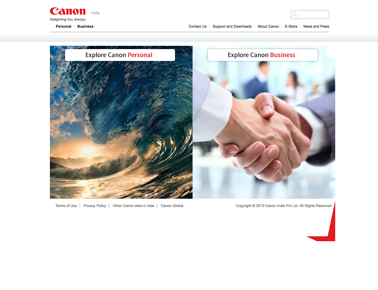 Canon - International Website Review by IDM