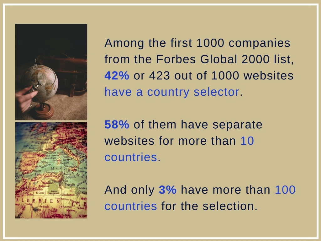Country Selection on the Websites of the World's Largest Public Companies 2017