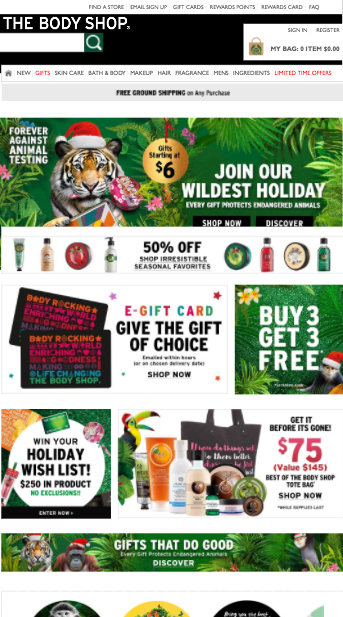 The Body Shop - International Website Review by IDM