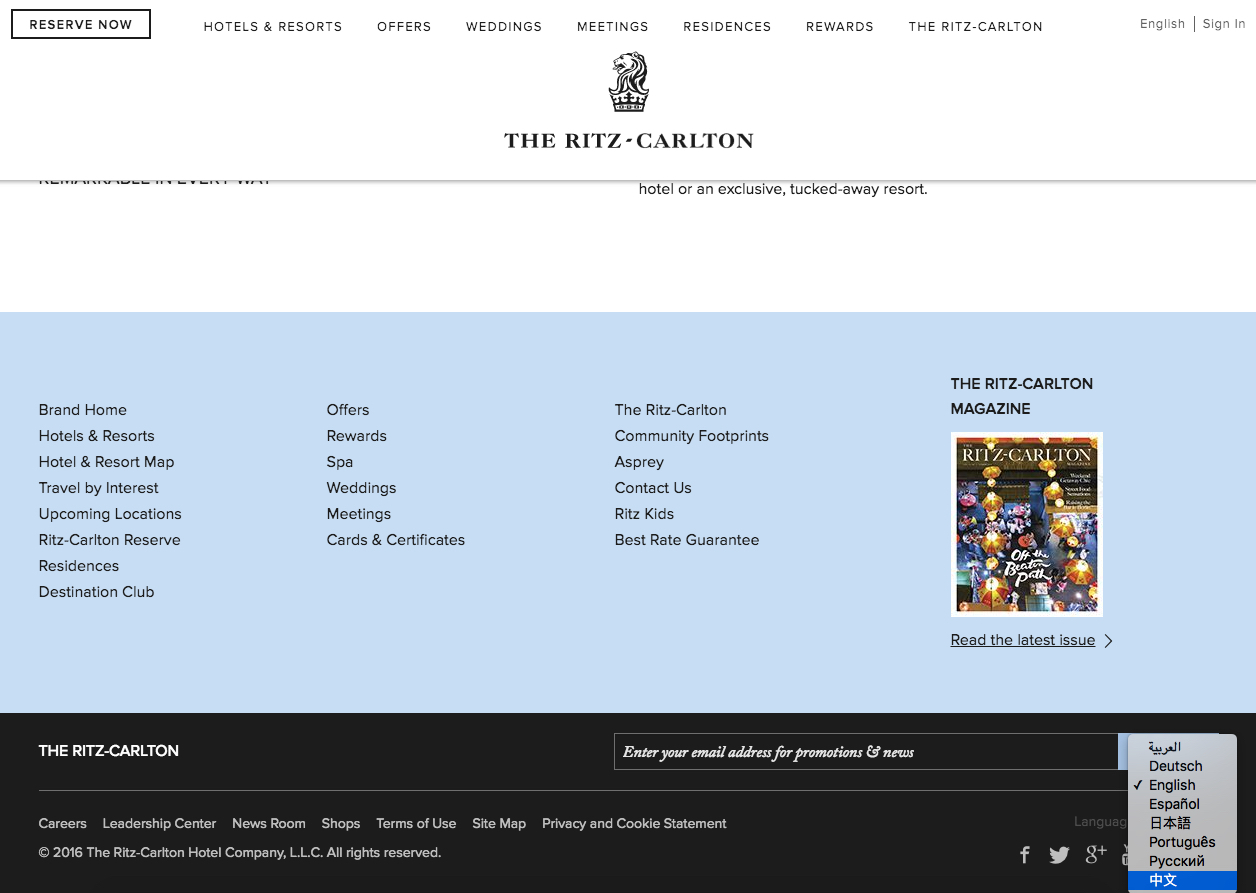 The Ritz Carlton Hotel Company